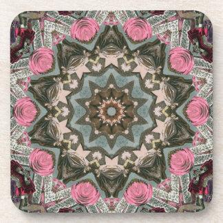 Multi-color Kaleidoscope Cork Coasters