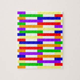 Multi-color Line Design Jigsaw Puzzle