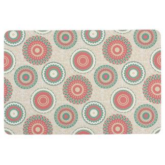 Multi Color Mandala Muted Jewels Floor Mat