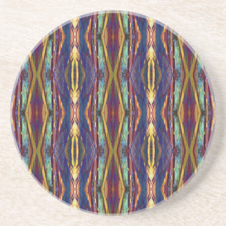 Multi-Color Masculine Tribal Pattern Drink Coasters