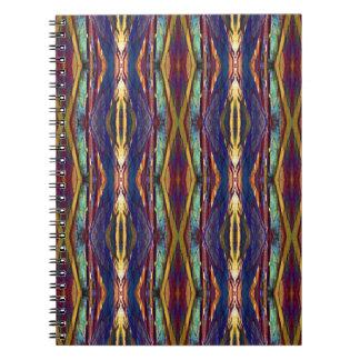 Multi-Color Masculine Tribal Pattern Spiral Notebook