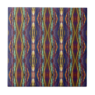 Multi-Color Masculine Tribal Pattern Tile