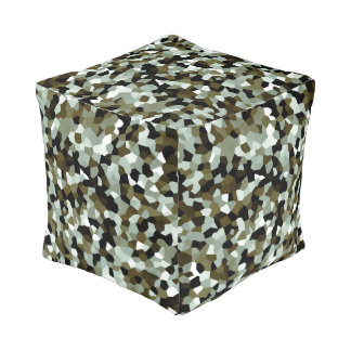 Multi-color Modern Trendy Pattern Pouf