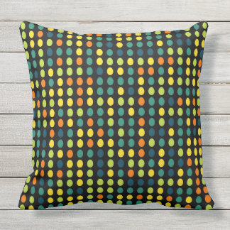 Multi-color ovals outdoor pillow