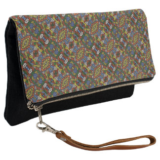 Multi-color Pattern Clutch