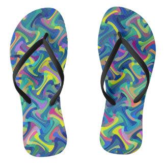 Multi-Color Pattern Flip Flops