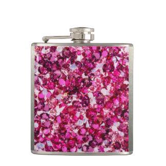 Multi Color Pink Diamomds Flask