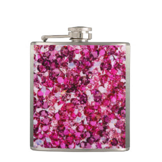 Multi Color Pink Diamomds Hip Flask