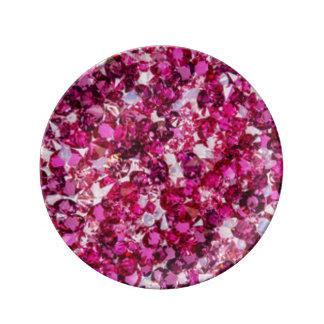 Multi Color Pink Diamomds Plate