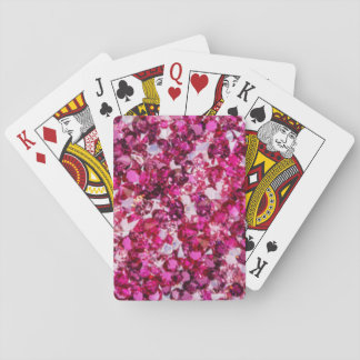 Multi Color Pink Diamomds Playing Cards