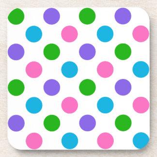 Multi Color Polka Dots Coaster