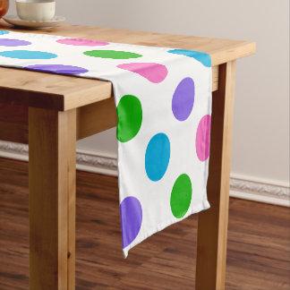 Multi Color Polka Dots Short Table Runner