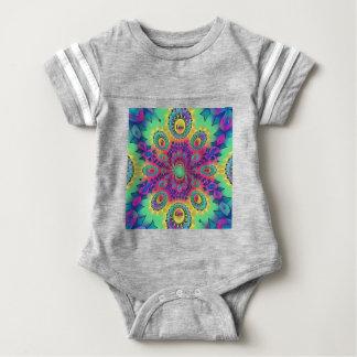 Multi-Color Psychedelic Love is Love Retro Pattern Baby Bodysuit