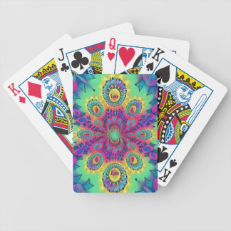 Multi-Color Psychedelic Love is Love Retro Pattern Bicycle Playing Cards