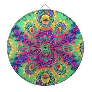 Multi-Color Psychedelic Love is Love Retro Pattern Dartboard