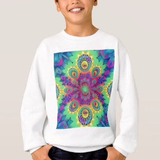 Multi-Color Psychedelic Love is Love Retro Pattern Sweatshirt