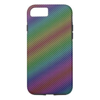 Multi-Color Rainbow Carbon Fiber iPhone 7 Case