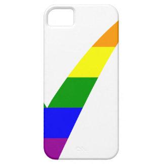 Multi-Color Rainbow Check Mark iPhone 5 Case