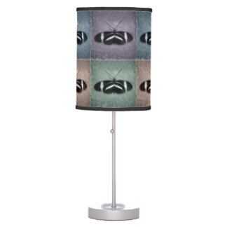Multi-Color Repeat Pattern Sketch Butterfly Table Lamp