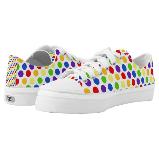 Multi Color Small Polka Dots (2).jpg Low-Top Sneakers