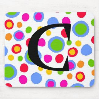 Multi color spots custom mousepad