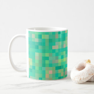 Multi-Color Square Pattern Coffee Mug