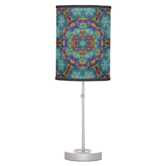 Multi-Color Stained Glass Design Lamp