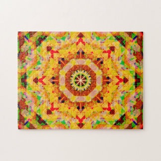 Multi-Color Star Shapes Mandala Jigsaw Puzzle