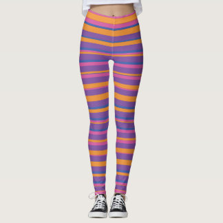 Multi-color stripes explosion. leggings