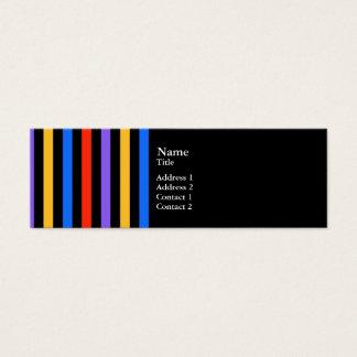 Multi Color Stripes Mini Business Card