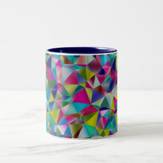 Multi-Color Triangular Design Two-Tone Mug