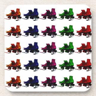 Multi Color Vintage Roller Skates Drink Coasters