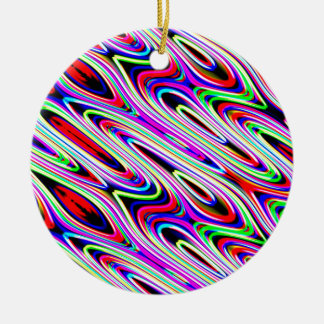 Multi Color Wave Abstract Pattern Ceramic Ornament