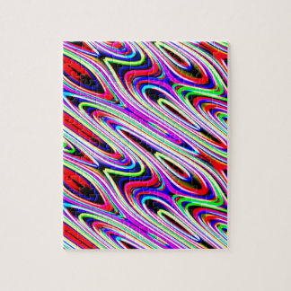 Multi Color Wave Abstract Pattern Jigsaw Puzzle
