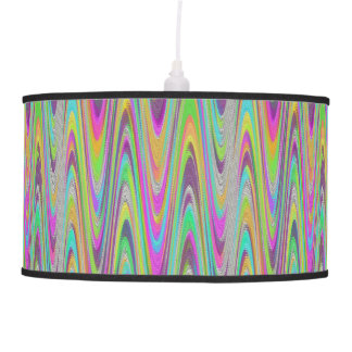 Multi-color Wave Pattern Lamp Shade