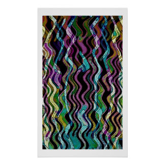 Multi Color Wave Poster