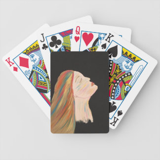 Multi-color Woman Bicycle Playing Cards