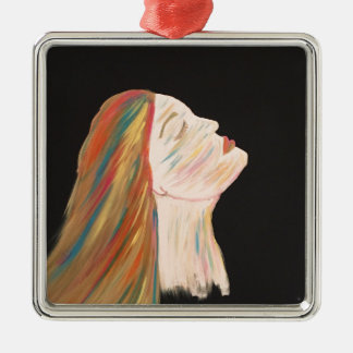 Multi-color Woman Metal Ornament