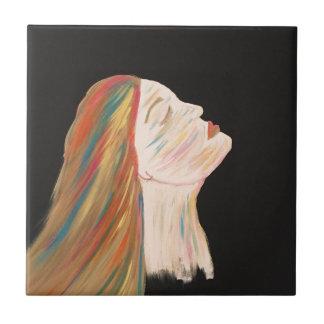 Multi-color Woman Tile