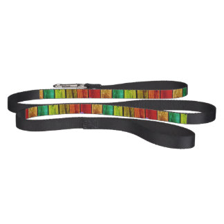 Multi-Color Wood Design Dog Leash