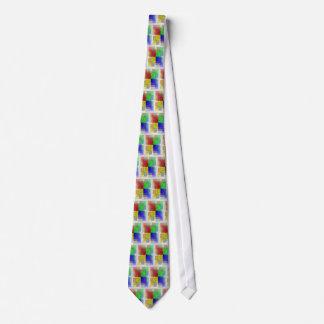 Multi-Color Woodgrain Blocks Tie
