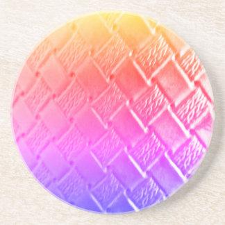 Multi Color Woven Leather Coaster
