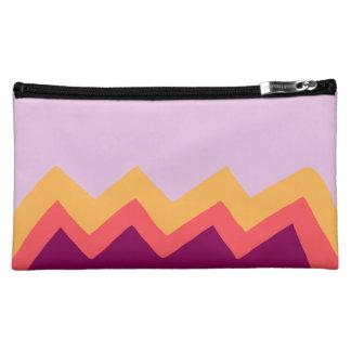 Multi Color Zig Zag Cosmetic Bag