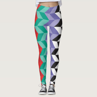 MULTI COLOR ZIG ZAG LEGGINGS