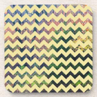 Multi Color Zigzag Cork Coaster