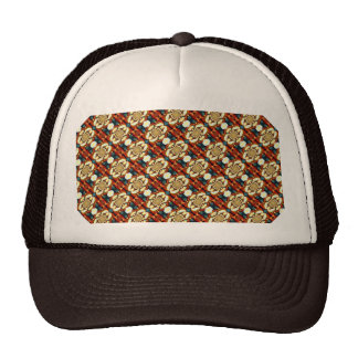 Multi Colored Abstract Floral Pattern Mesh Hat