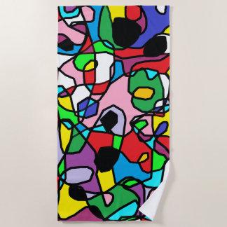 Multi Colored Abstract Fun Beach Towel