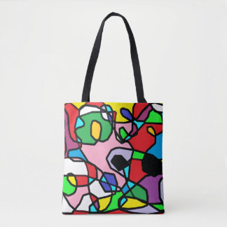 Multi Colored Abstract Tote Bag