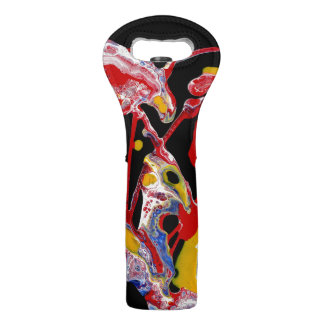 """Multi-Colored Abstract Wine Tote - """"Crazy Heart"""""""