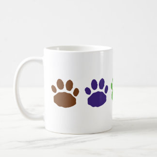 Multi-Colored Animal Paw Prints Coffee Mug